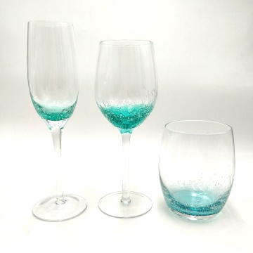high quality goblet stemless wine glass with bubble