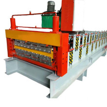 double layer corrugated roofing sheet machine