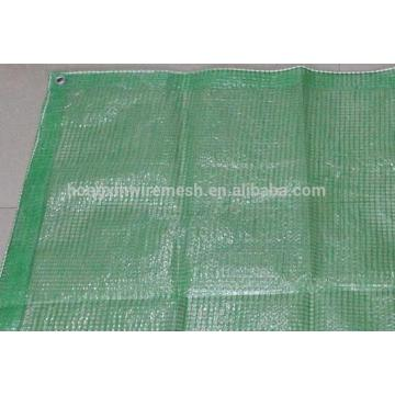 Green Color 200gsm PE Transparent Leno Mesh Tarpaulin