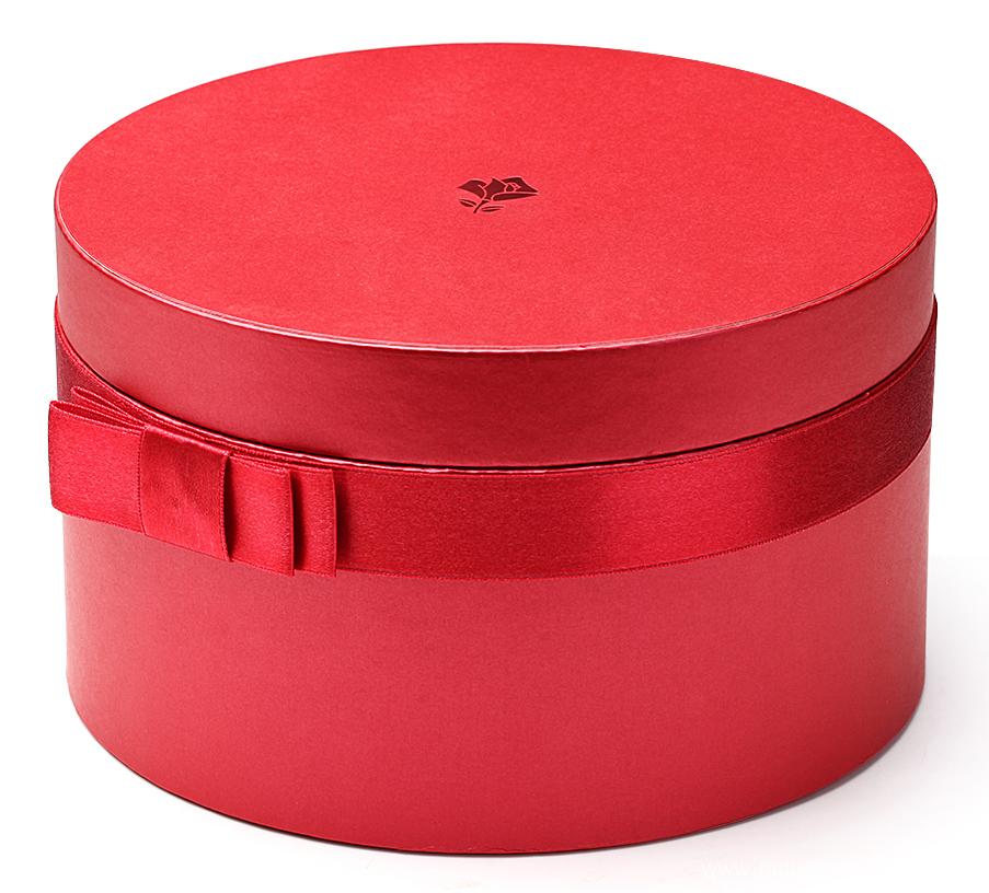 Matte Red Round Cardboard Boxes with Lids