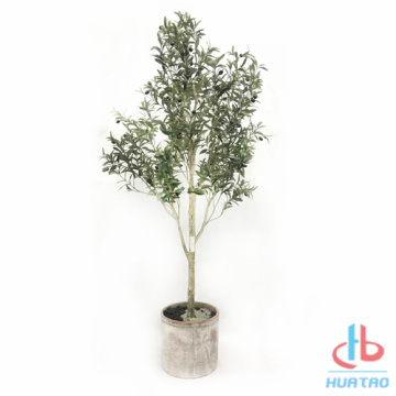 Flame Resistant Artificial Olive Tree