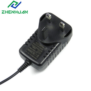 12W 6V / 2A ekstern Storbritannia Plug In Power Adapter