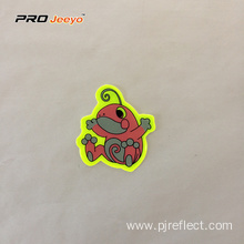 Reflective Adhesive Pvc Frog Shape Stickers For Children