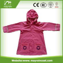 New Design and Fashion PU Raincoat for Kids