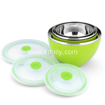 Stainless Steel Food Storage Bowl With Sealed Lid
