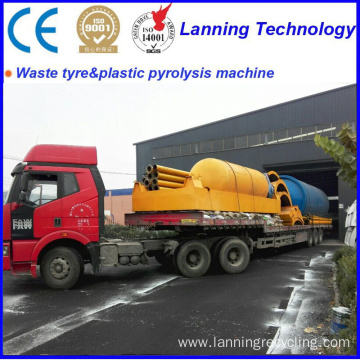 waste tyre pyrolysis recycling to fuel  machines