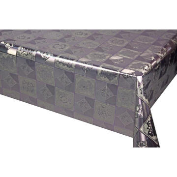 Best Selling Silver Gold Fabric Backing Tablecloth 140cm