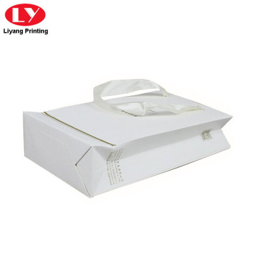 Matt White Paper Bag with Handle Packaging