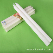 Pure white custom religious wax candle for church