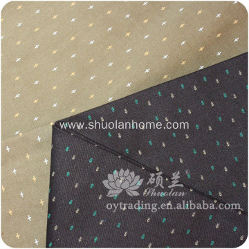 dyed ground spot printed cotton poplin fabric