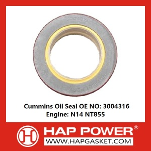 Short Lead Time for for Silicone Rubber Oil Seal Industry Oil Seal 3004316 export to Turkey Importers