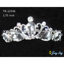 Fashion Girl Big Stones Wedding Tiara Crown