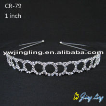 Silver Hair Jewelry Headband