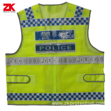 Summer Multi-pockets Police reflective safety vest