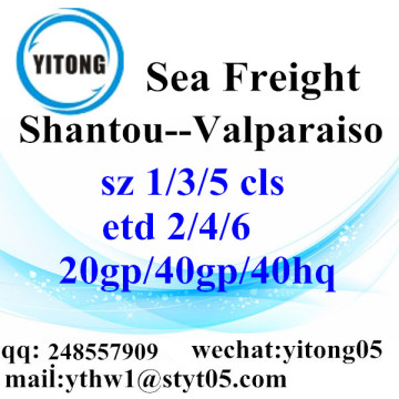Shantou Sea Freight Shipping Services to Valparaiso