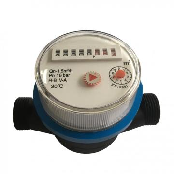 Household Single Jet Dry Type Plastic Water Meters