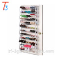 36 pair over the door hanging foldable shoe rack