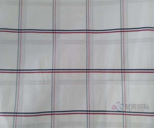 Striped Plain Cotton Yarn Dyed Fabric For Garment2