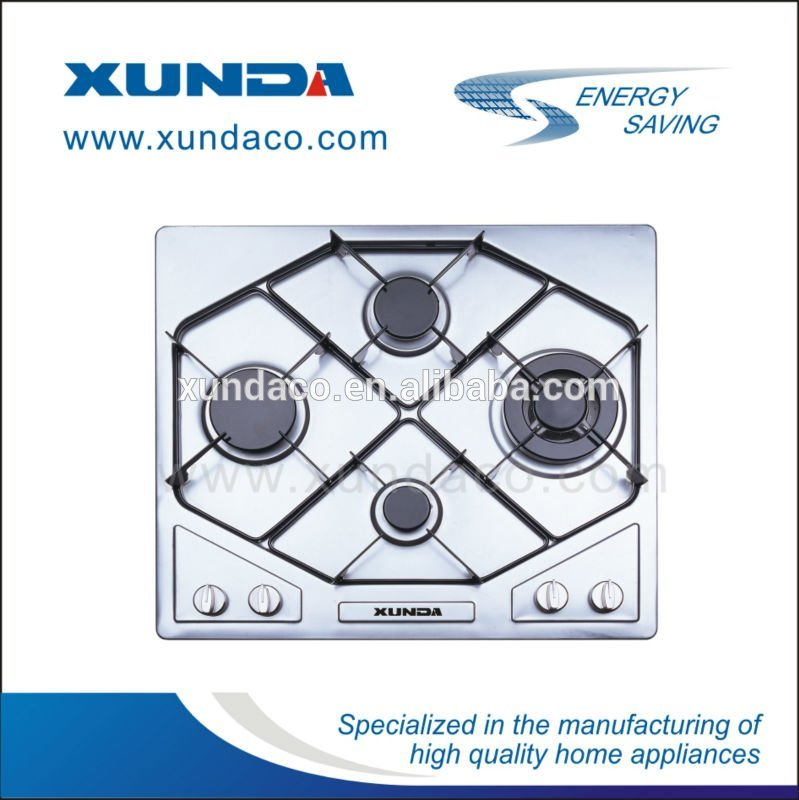 European Modern Inox Four Burners Gas Hob