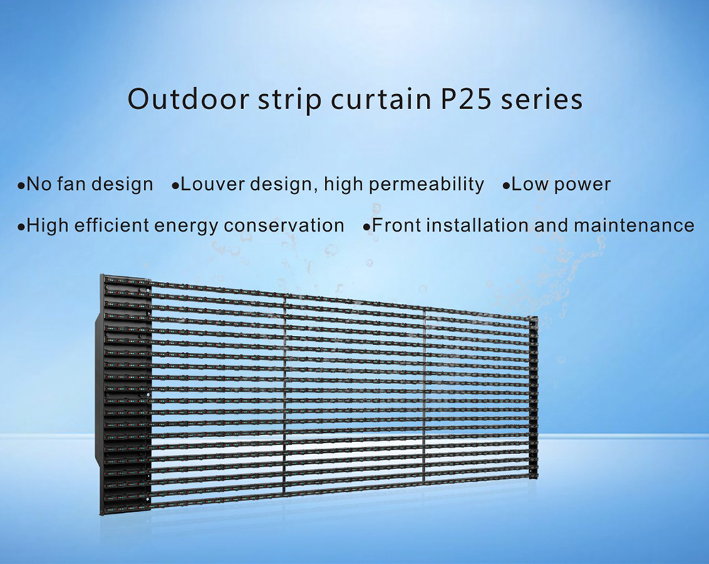 P25-50 Outdoor led mesh display media facade