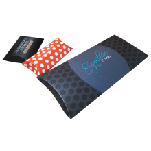 Glossy flat packing folding paper pillow box