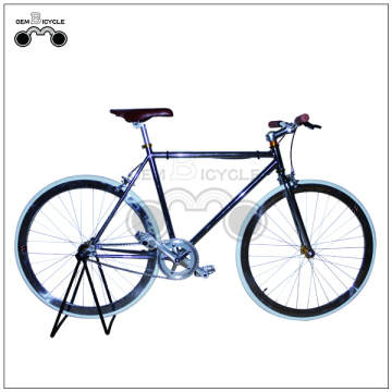 700c raiser bar deep rim fixed gear bicycle