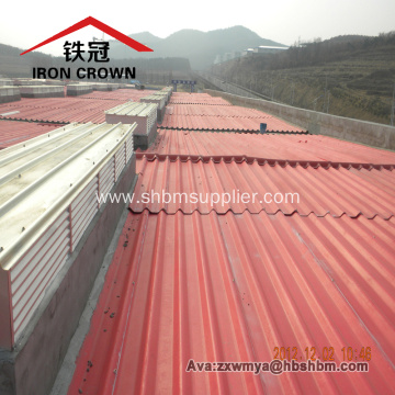 Iron-Crown Fireproof PET Membrane MgO Corrugated Roof Sheet