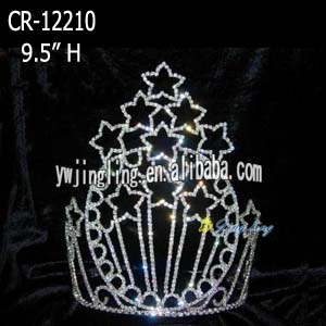 Large star shape tiara pageant patriotic crown CR-12210