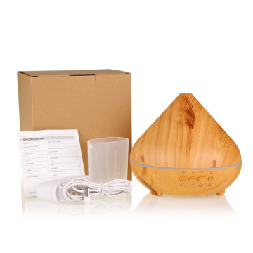 Wood Grain Aromatherapy Essential Oil Aroma Diffuser Speaker