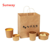 Custom durable coffee paper carry bags