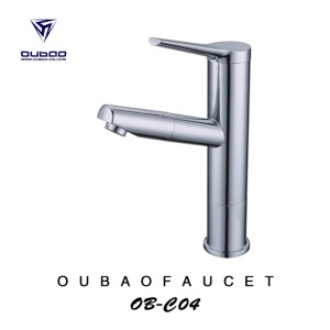 Swivel Spout Bathroom Wash Basin Pullout Faucet Tap