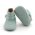 Green Genuine Leather Beauty Baby Boots