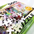 Factory custom 1500pcs color educational paper puzzle game