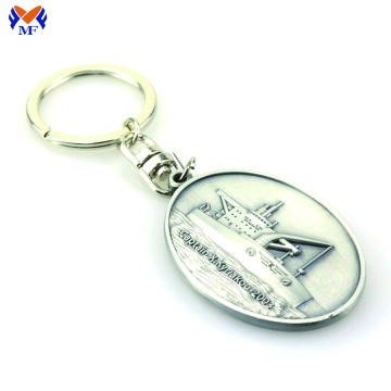 Metal custom 3d keyring with embossed logo