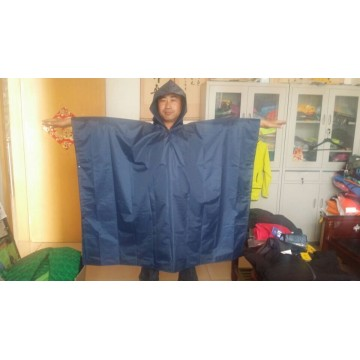 white pvc kid rain poncho with rain cap