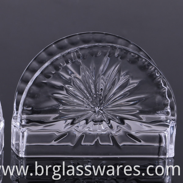 crystal glass napkin holder 2