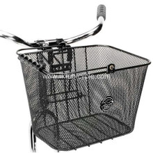 Black Steel Front Bicycle Baskets