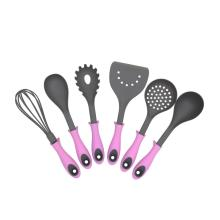 Best-Selling for Nylon Kitchen Cooking Utensils Heavy Duty 6 Pcs Plastic Kitchen Tool Set export to Spain Factory