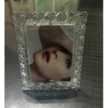 Rose Flower Glass Frame For Christmas