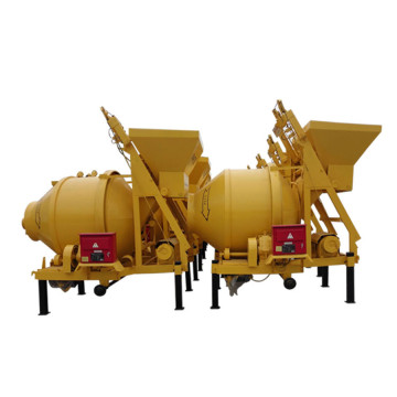 trailer small concrete mixer drum with lifting hopper