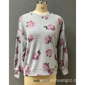 women's prin flower blouse