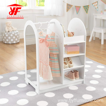 Lovely White Shoe and Cloth Storage for Kids