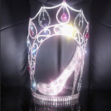 10 Inch Heels Crown Rhinestone Pageant Crowns