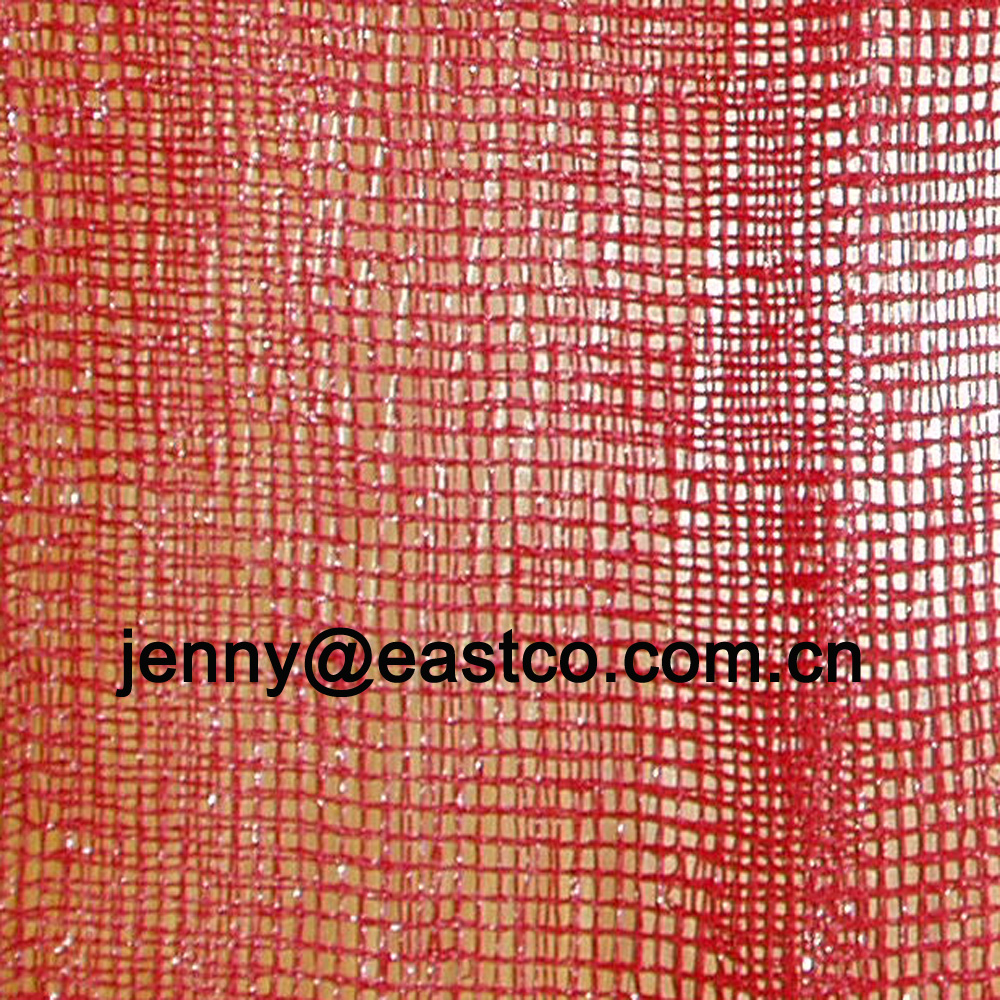 Leno Mesh Net Bag Sack Flat yarn warp and weft