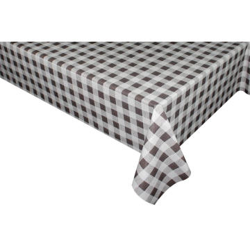 Elegant Tablecloth with Non woven backing Gingham