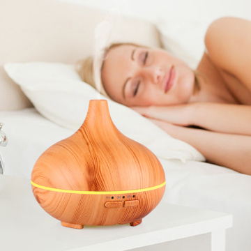 Humidificateur à grain de bois à ultrasons à mini ventilateur