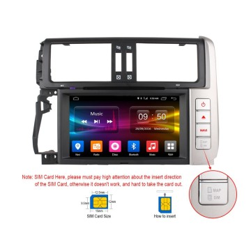 In-dash GPS receivers for Toyota Prado 10-13