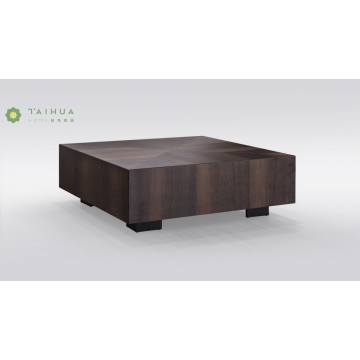 Full Solid Wood Integrated Square Coffe Table