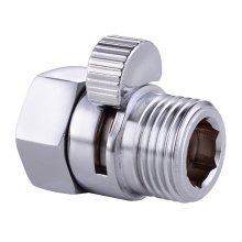 Bathroom Chrome Shut-Off Valve Faucet Diverter