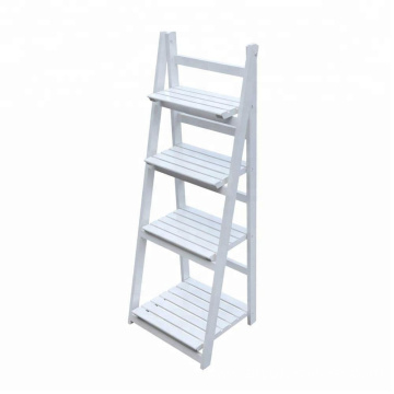 Flower Stand Rack Shelf 4 Tier Outdoor Wooden Garden Home Flower Balcony Shelf Ladder Display